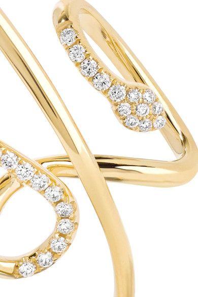 Yvonne Léon - Serpent 18-karat Gold Diamond Earring - one size