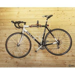 Muurbeugel fiets - muurhouder fiets - fiets ophangsysteem inklapbaar met 2 rode haken