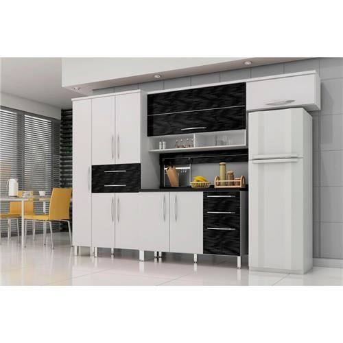 Cozinha Compacta Bartira Cíntia com 9 Portas e 5 Gavetas