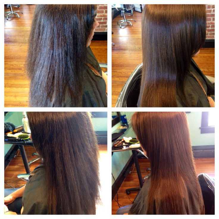 Before and after keratin straightening treatment...gorgeous! #keratinstraightening #keratin #hairbynicolev #studio24 #sayville #longislandny