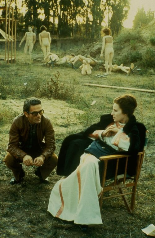 Pier Paolo Pasolini with Silvano Magnano on the set of The Decameron (1971)