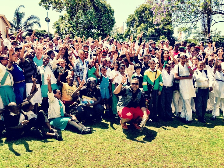 Big Bruv T from The V, 2012 Poetry Africa school tours.