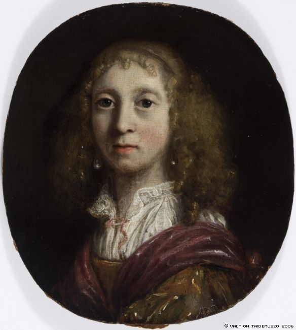 Ян Мирис, Jan van Mieris (1660 — 1690) — Портрет девушки ( Finnish National Gallery)