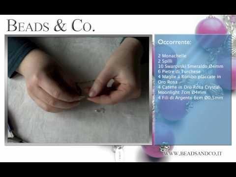 """Tutorial per creare orecchini in Oro Rosa, pietre di Turchese. Visita la il nostro sito http://www.beadsandco.it alla sezione """"Idee Kit"""" e scopri quanto è semplice fare un vero gioiello """"fai da te"""". Visita anche la nostra community di """"gioielli fai da te"""" http://www.beadsandco.it/mybeads/  Lezione 22"""