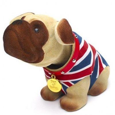 Union Jack nodding dog