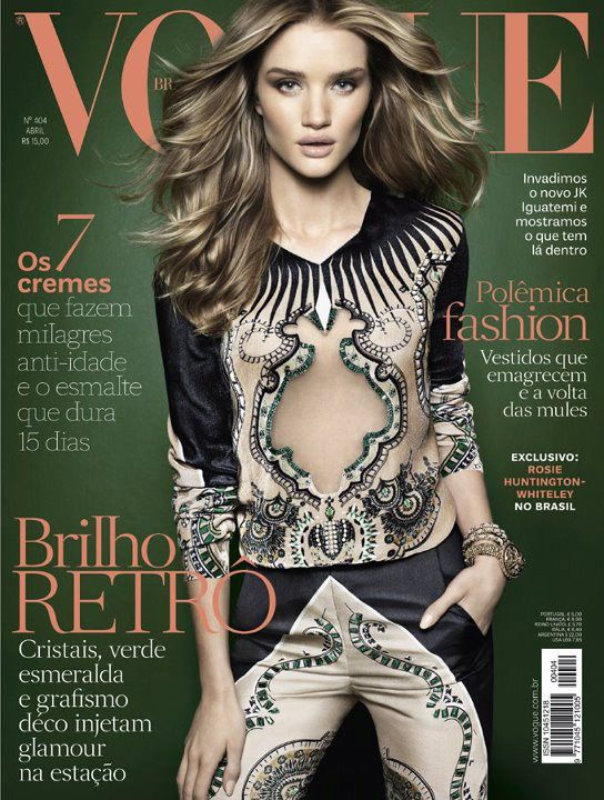 Rosie Huntington-Whiteley Covers the April Issue of Vogue Brazil