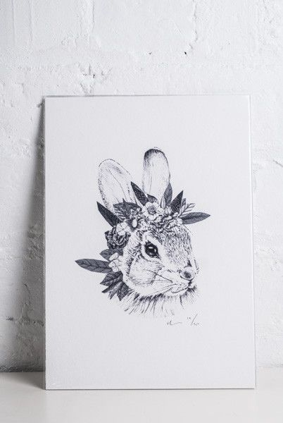 Rabbit With Flower Crown Google Search Tattoo To Tango Pinterest Rabbit And Tango