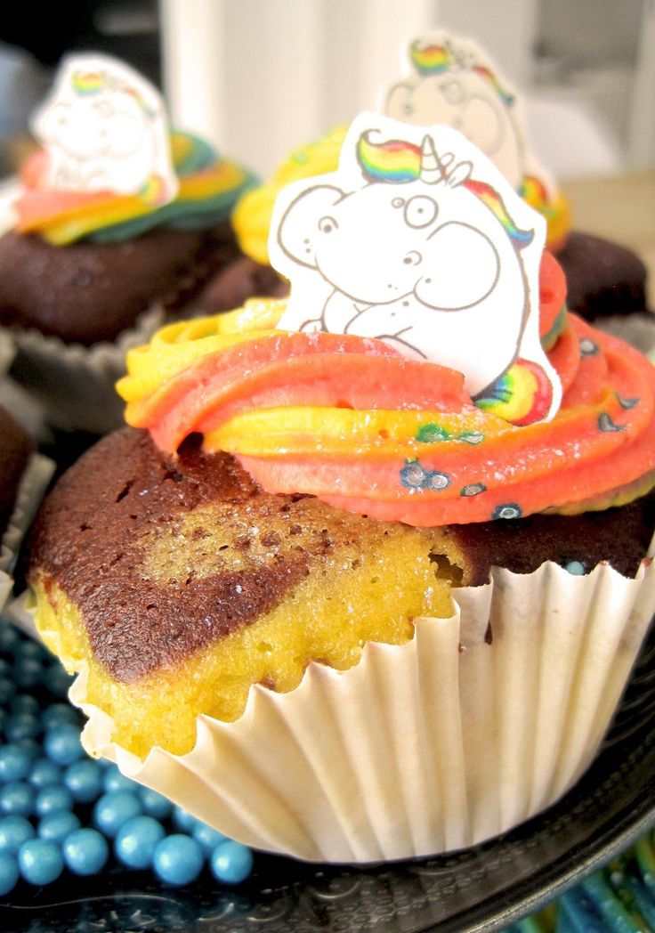 Unicorn cupcakes for my son's birthday #unicorn #unicornpoo #cupcakes #rainbow