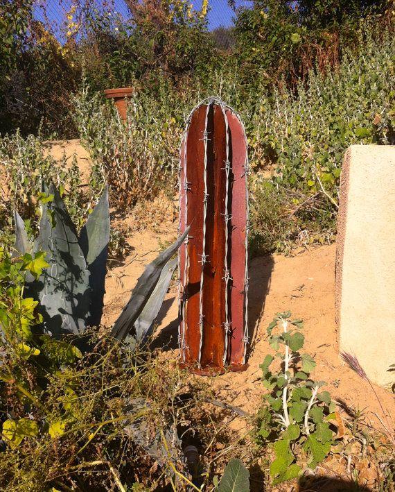 BarbWire rustico Cactus, arte del metallo dell