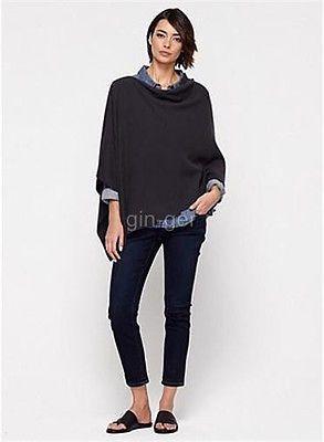NIP Eileen Fisher 2014 Organic Cotton Links Poncho Graphite One Size | eBay