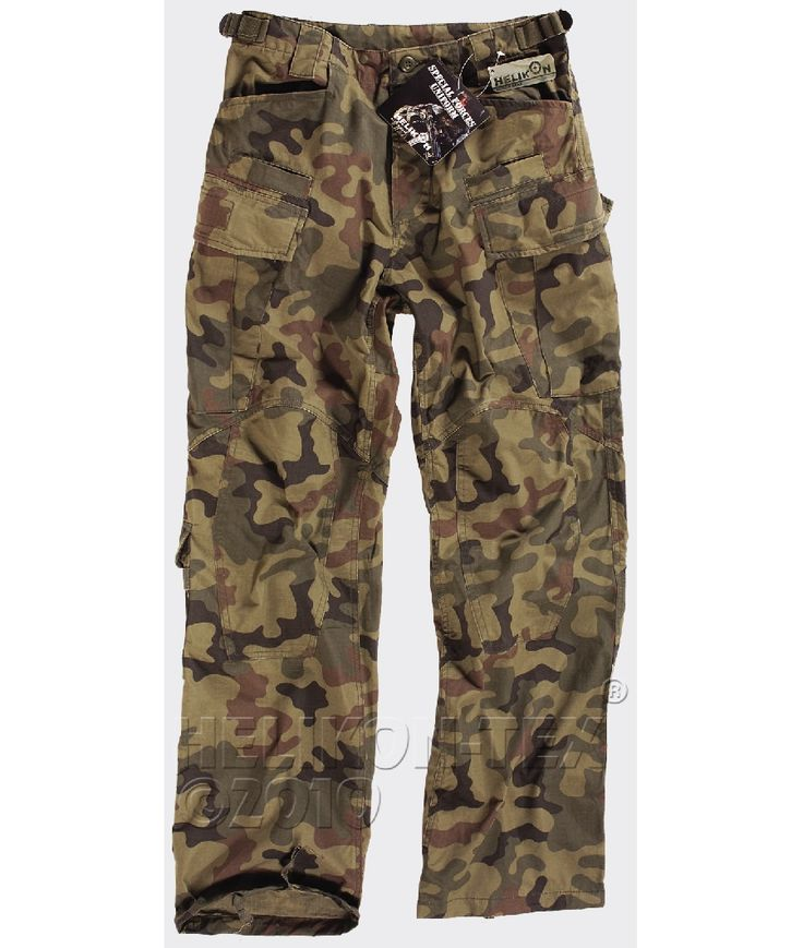 Helikon SFU Trousers Polish Woodland in tough cotton ripstop, as high a  quality as the
