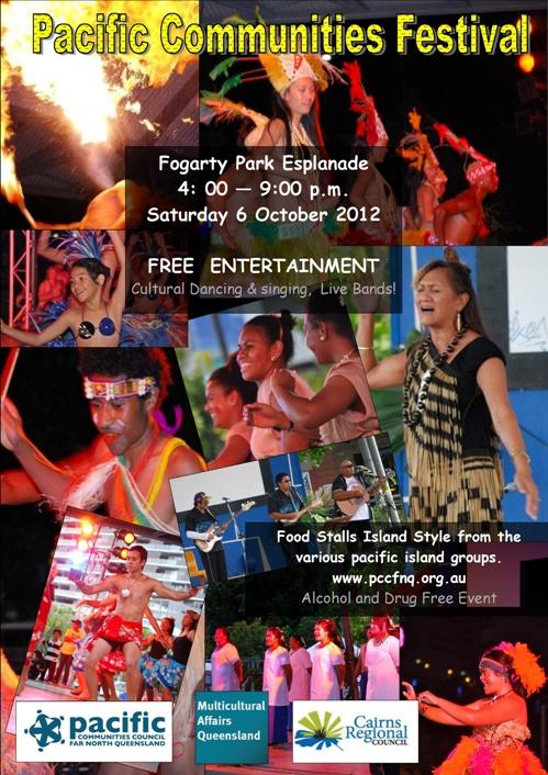 Pacific Communities Festival Saturday 4:00pm Sat 6 October @ Fogarty Park!