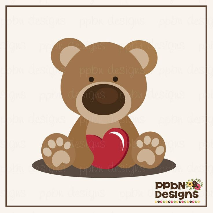 Valentine's day SVG cutting file. (http://www.ppbndesigns.com/beary-special-valentine-bear/)