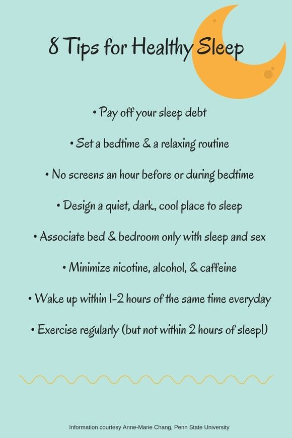 8 tips for healthy sleep, courtesy of Penn State research for Sleep Awareness Week.
