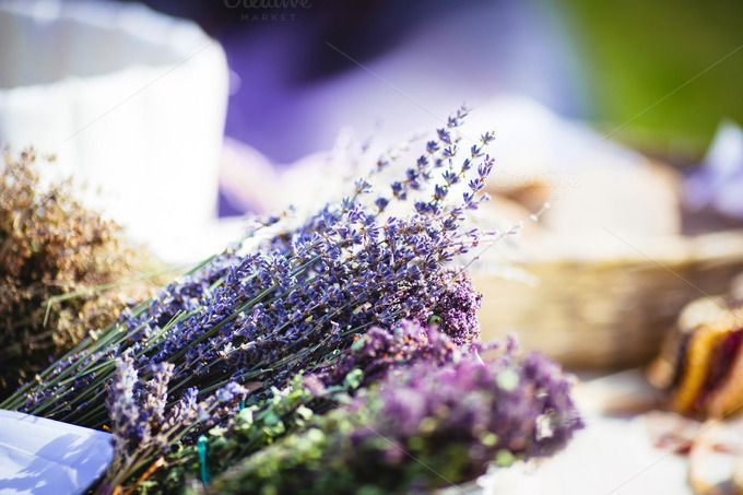 Dried lavender at the market by odpium on Creative Market