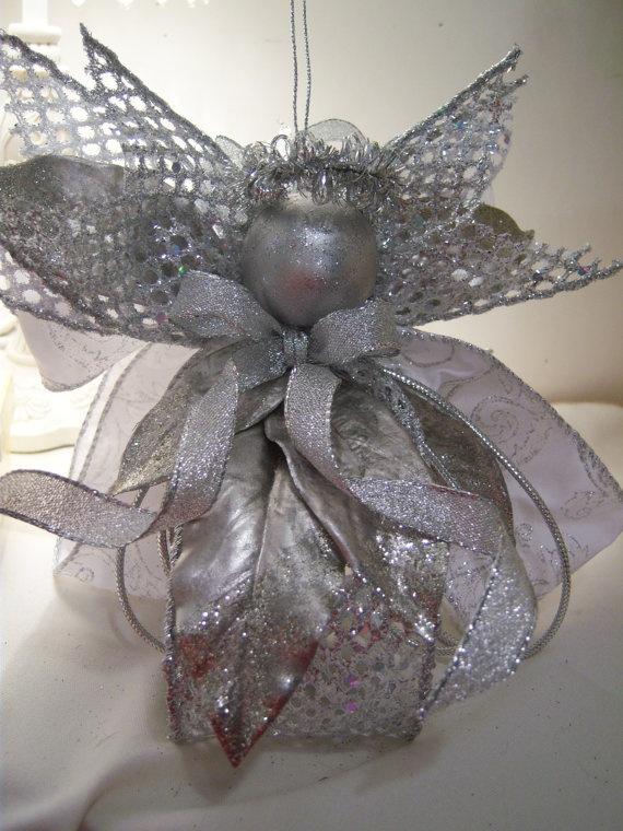 Silver Mesh Queen Angel Doll.