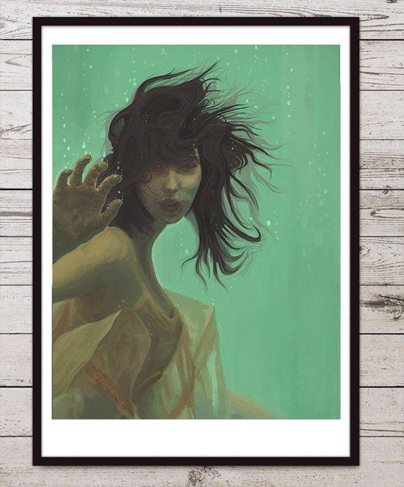 Mint Girl. Illustration art giclée print signed by the by tomeksz