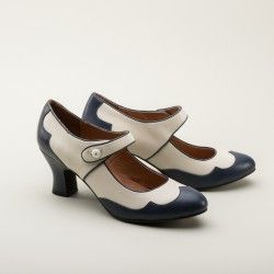 Lillian Retro Spectator Shoes by Royal Vintage (Navy/Ivory) (Pre-Order)