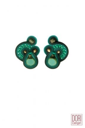 Cythera turquoise clip on earrings by Dori Csengeri #DoriCsengeri #turquoise #resortwear #clips #casualearrings #everydayearrings