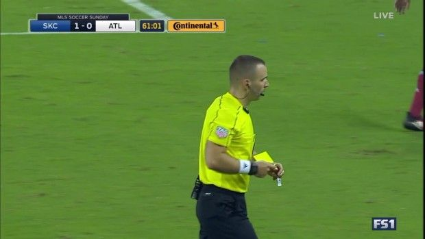 #MLS  YELLOW CARD: Leandro Gonzalez Pirez sees yellow for dissent