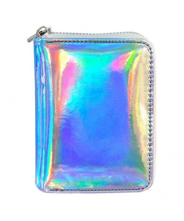 Clutch Handbag Purse Wallet Hologram Women/'s Metallic Glitter