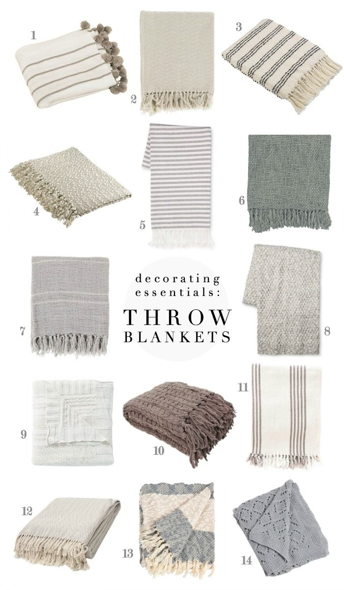 Soft, cozy throw blankets are a decorating essential - see our favorites!
