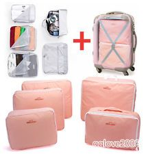 5 PCS Waterproof Travel Luggage Organizer packing Clothes Storage Bags Cube Bag