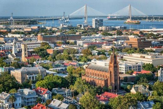 Skyline de Charleston em South Carolina, carolina do sul