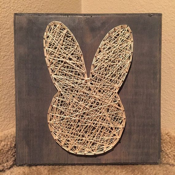Bunny String Art Sign. by StringsbySamantha on Etsy
