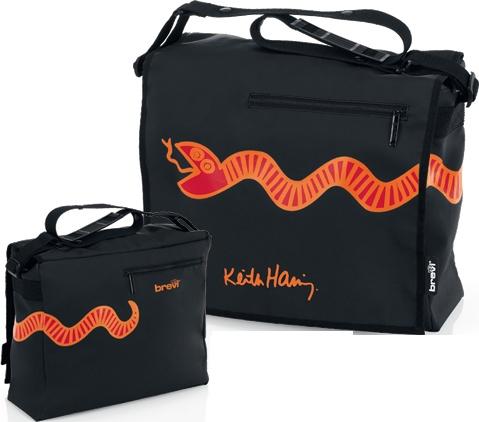 Borsa Green, Red, Black - Brevi Keith Haring