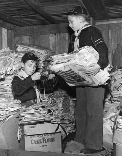 1950s Newspaper Drive Remember Saving Your Papers