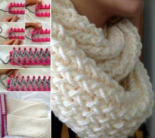 How To Make An Infinity Scarf With A Knitting Loom | DIY Tag