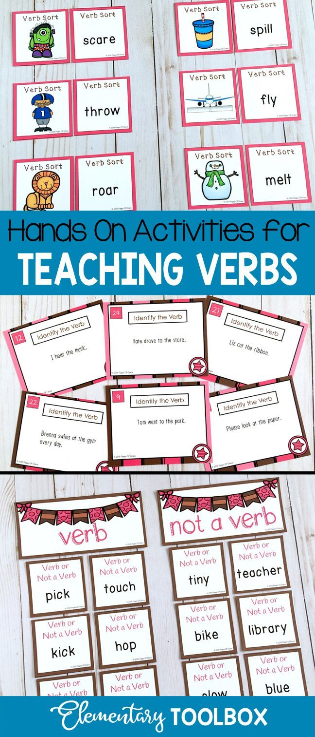 Learning About Verbs Is So Much Fun With This Unit Full Of Games Worksheets Verb Activities For First Grade Teaching Verbs Kindergarten Worksheets Printable [ 1512 x 648 Pixel ]