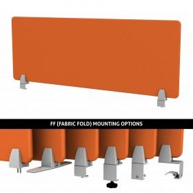 ENCLAVE PANEL - EDGE BAND DESK DIVIDER : Available in any of our 32 tackable fabrics. Price : $89.05 Only.  By Merge Works