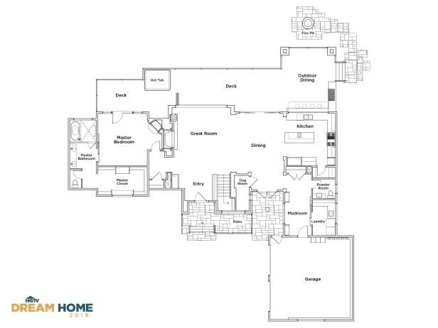 Discover the Floor Plan for HGTV Dream Home 2019