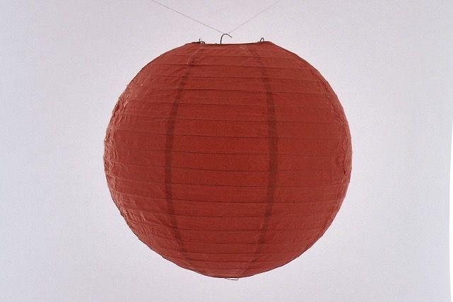 Lanterna di carta di riso da appendere, colore  Rossa 20 cm, con gancio.