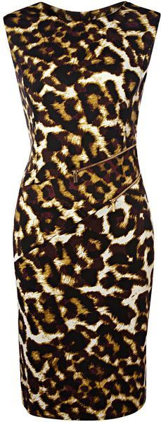 Leopard Print Dress - Lyst