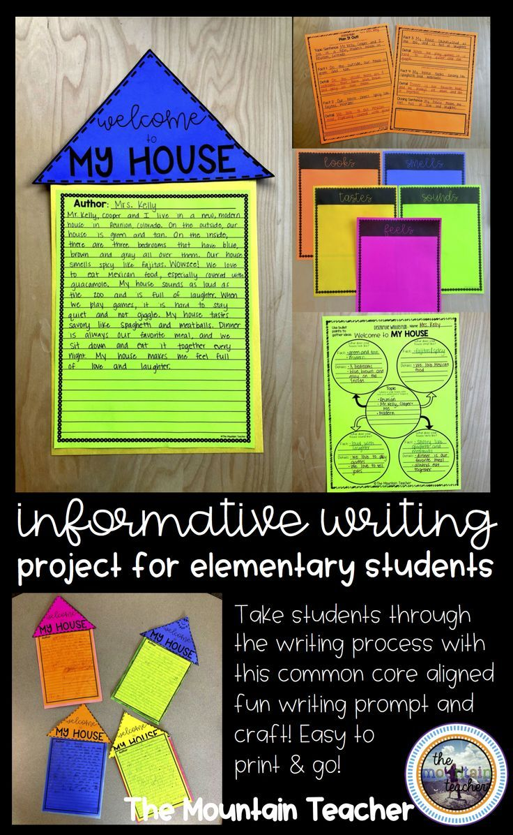 Descriptive writing/ Informative Writing project for elementary aged students - Welcome to My House writing project.