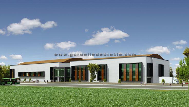 Cemal Kamacı Spor Salonu Projesi, Görselleştirme Çalışması. Proje Müellifi: BPE Mimarlık.