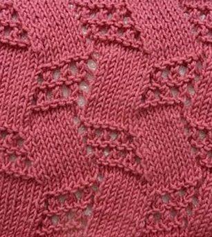 A fun topsy-turvy lace and stockinette stitch pattern