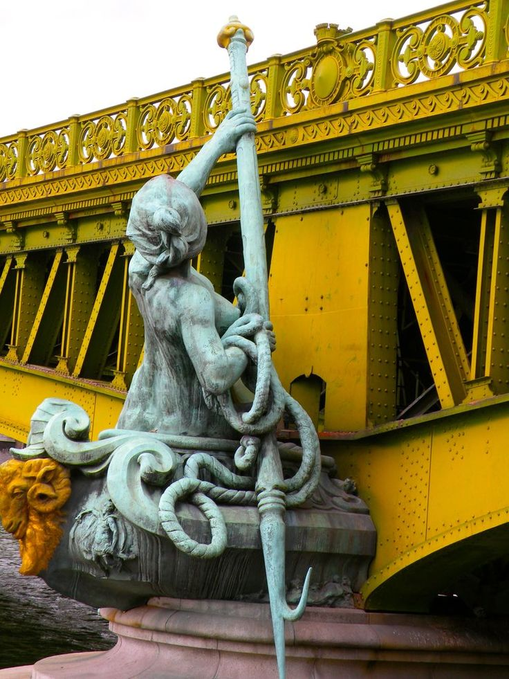 statue on Pont Mirabeau  print for sale by eyepreferparis