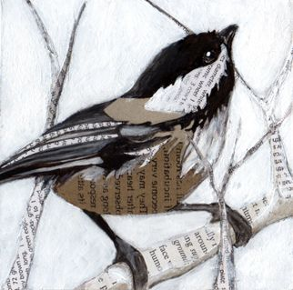 chickadee collage. Cheerful little things!
