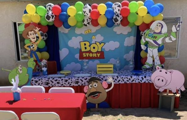 Toy Story Party Toy Story Birthday Toy Story Birthday Backdrop Toy Story Photo Prop Toy Story Backdrop