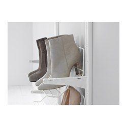 IKEA - ALGOT, Crémaillère/tablettes/org chauss, Les éléments de la série ALGOT se combinent > à utiliser pour les chaussures à l'entrée du dressing ?