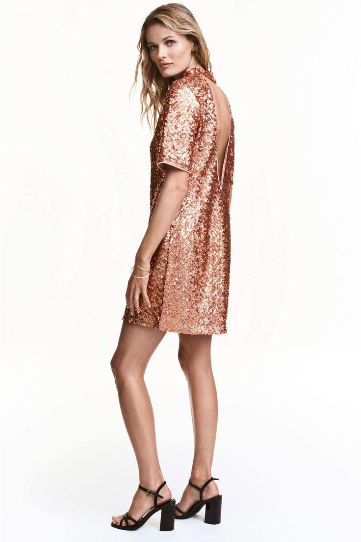 H&M Короткое платье с пайетками 461193