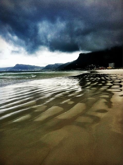 Muizenberg after rain-this was the closest beach from where my mother lived in Kenwyn, Cape Town - fond memories