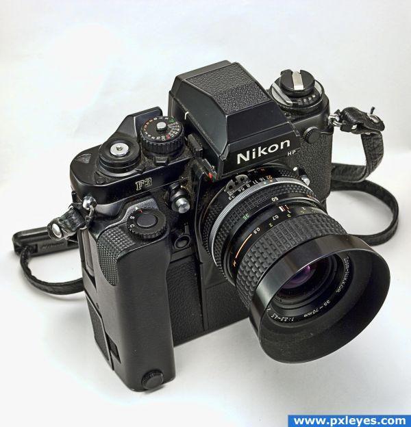 Nikon f3 HP with MD-4 Still got mine!