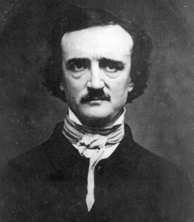 """The most morose, yet amazing poet who ever lived. Edgar Allan Poe.  (Check out """"Annabel Lee"""" and """"To One In Paradise."""")"""