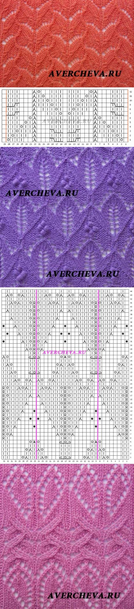 спицами цветочные узоры и орнаменты схемы