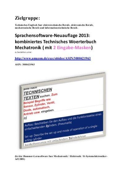 bedienungsanleitung zum deutsch-englisch texte-uebersetzer fuer Automatiker Techniker Elektroniker Mechatroniker